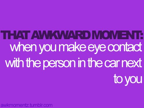 awkward moment, eye contact, typography