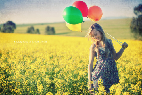 balloon, free, girl