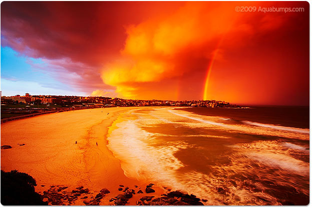 beach, bondi, love, orangex, rainbow
