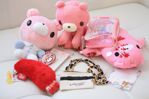 bear, blood, cute, gloomy, gloomy bear, pink, red, tokidoki