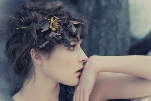 beautiful, fashion, flowers, girl, hair