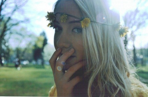 beauty, blonde, boho, dandelions, flowers