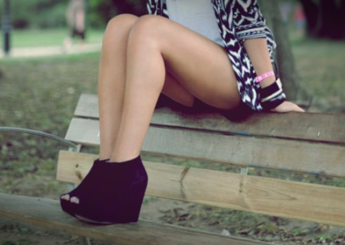 bench, boho, bracelet, fashion, hipster, jorika, legs, park, separate with comma, shoes, tan, totem, tribal, vogue, wedges