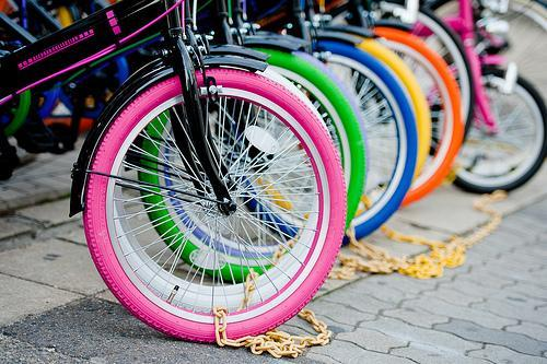 bike, colorful, pink