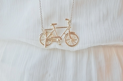 bike, necklace, pastel, pink, pretty