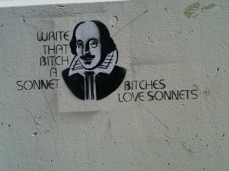 bitches, grafitti, love, shakespeare, sonnet