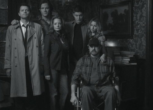 black and white, bobby singer, cas, cass, castiel
