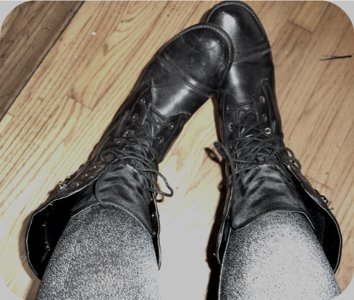 black, boots, combat boots, fuck, gray, old, punk, silver, vintage, wood, yes