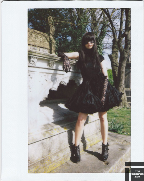 black, brighton, cemetery, cole, grave, grave yard, instax, lace, logue, mask, photo, photograph, photography, simmonds, thomas, tom, tomsimmonds