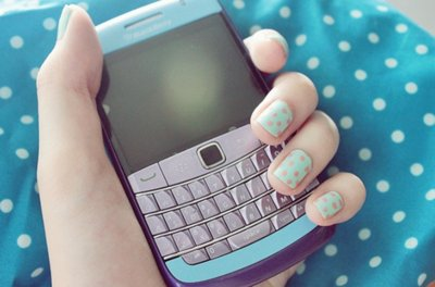 blackberry, blue, girl, nail art, nails
