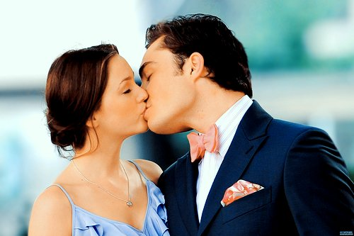 bluck, chuck bass, couple, gossip girl, kiss