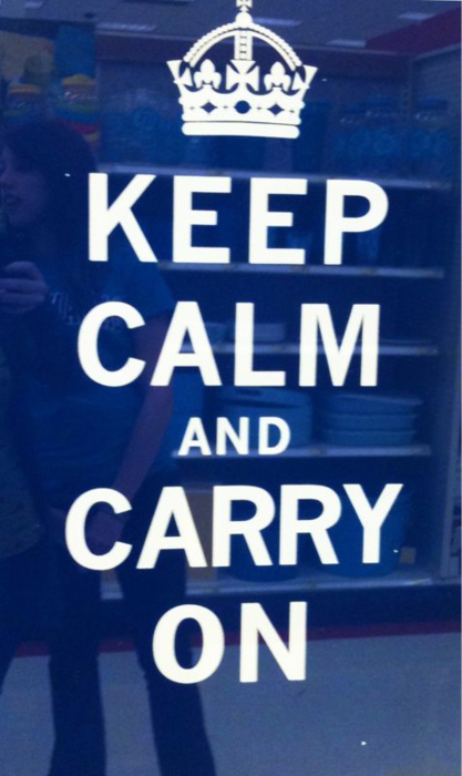 blue, carry on, crown, keep calm, keep calm carry on, quote