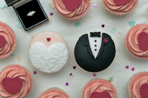 boda, cupcake, idea, wedding