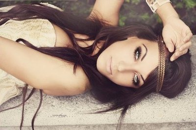 boho, brunette, eyes, fashion, girl, gorgeous, hair, head band, headband, hipster, long, model, pretty, style, wavy