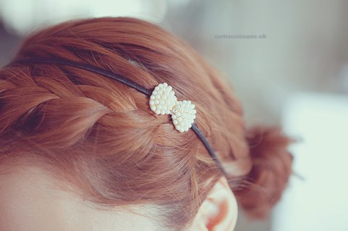 bow, cute, girl, glam, hair