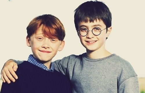 boys, cute, daniel radcliffe, friends, harry, harry potter, rony, rupert grint, weasley