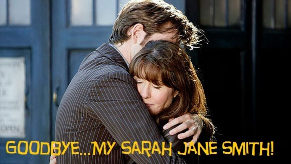 bye, david tennant, doctor who, elisabeth sladen, friends, friendship, goodbye, goodbye my sarah jane, hug, love, rip, sad, sarah jane smith
