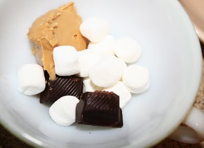 candy, chocolate, food, marshmallows, peanut butter