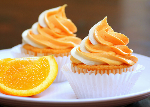 cupcakes, food, orange, orange cupcakes, oranges, pretty food