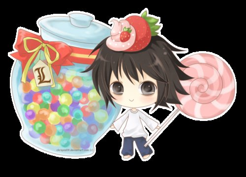 cute, death note, fan art, kawaii, l lawliet