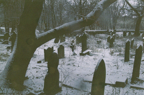 death, film grain, gravestones, graveyard, old