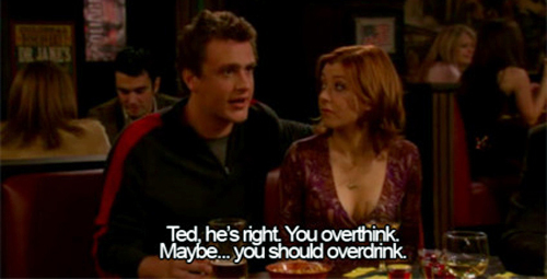 drink, funny, himym, how i met your mother, lol, subtitle, subtitled, subtitles, think