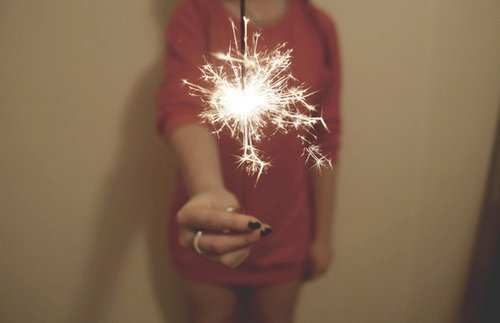 fireworks, light, nails, pretty, sparks