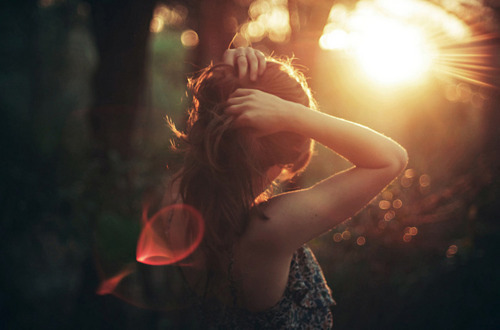 girl, hair, light, pretty, sunlight