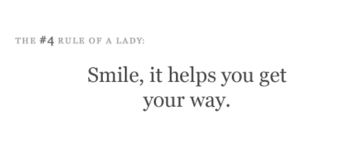 lady, love, rule of a lady, tips