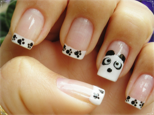 nail, nails, panda, pretty, separate with comma