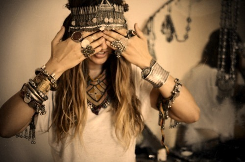 accesories, blonde, bohemian, boho, fashion, fun, girl, model, rings