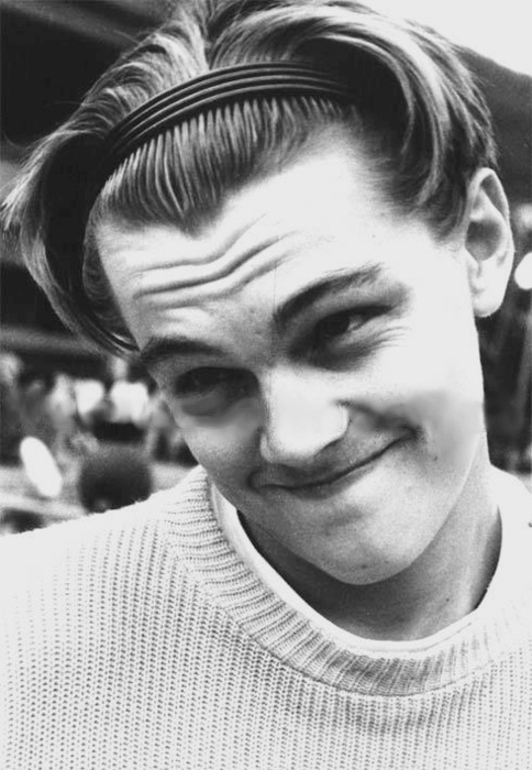 actor, black and white, cuteness, dicaprio, girly