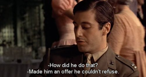 al pacino, caption, cinema, film, godfather, movie, quote, screen cap, subtitle, text, the godfather, words