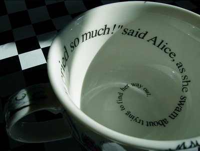 alice, alice in wonderland, quote, quotw, swam, tea, teacup, way, wonderland