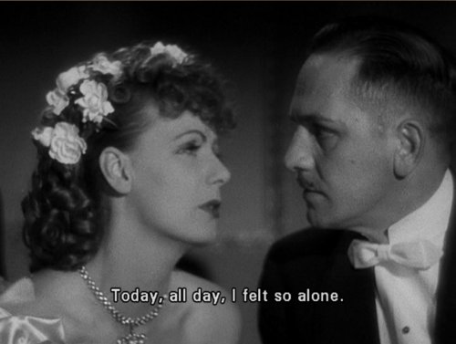 alone, anna karenina, black and white, cinema, film, forever alone, greta garbo, lonely, movie, quote, retro, roberta, text, typography, vintage, word, words