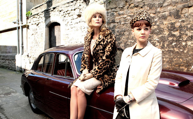 an education, carey mulligan, leopard print, rosamund pike 