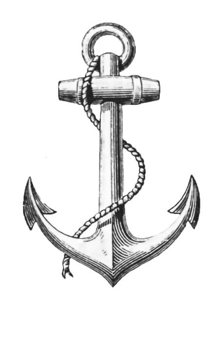 Line Drawing Anchor : Anchor art drawing navy image on favim