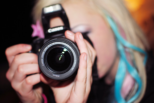 art, blonde, camera, canon, colour
