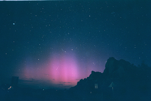 aurora borealis, lights, nature, night, night sky, northern lights, photography, pink, sky, stars