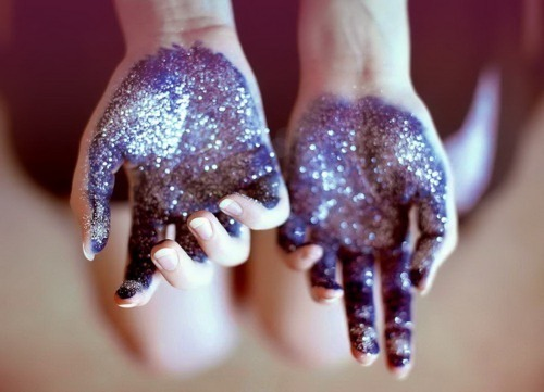 awesome, beautiful, blue, glitter, hands, magic