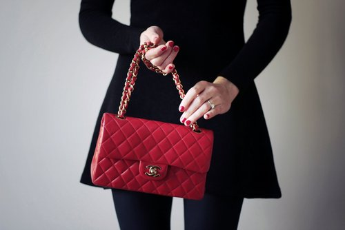 bag, black, chanel, coco, fashion, girl, pink, purse, red