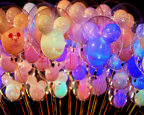 balloon, colorful, cute, disney, fluorescent, mickey