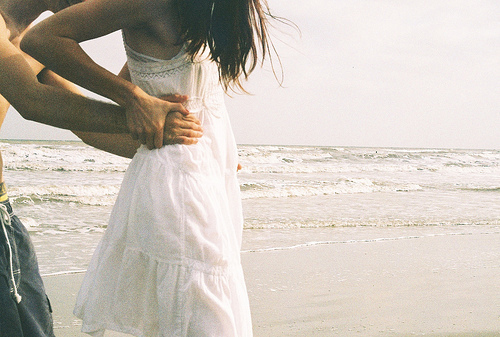 beach, couple, cute, dress, love