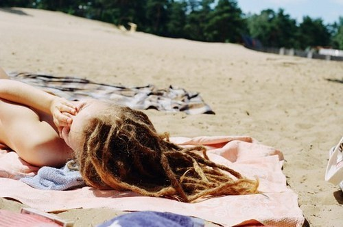 beach, dread, dreadlocks, dreads, girl