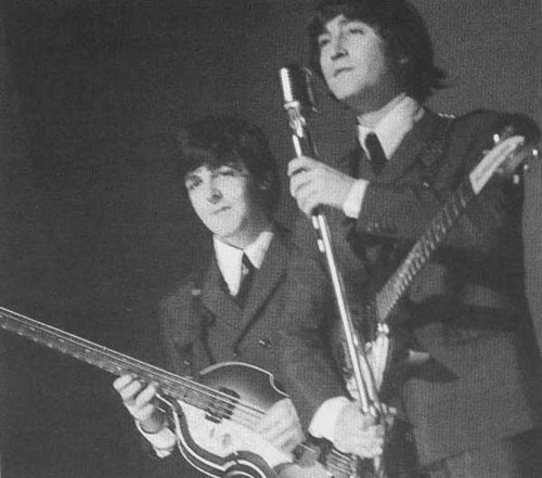 beatles, black and white, john lennon, paul mccartney, retro