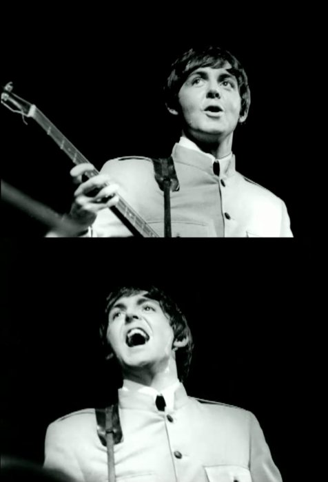 beatles, black and white, paul mccartney, retro, the beatles