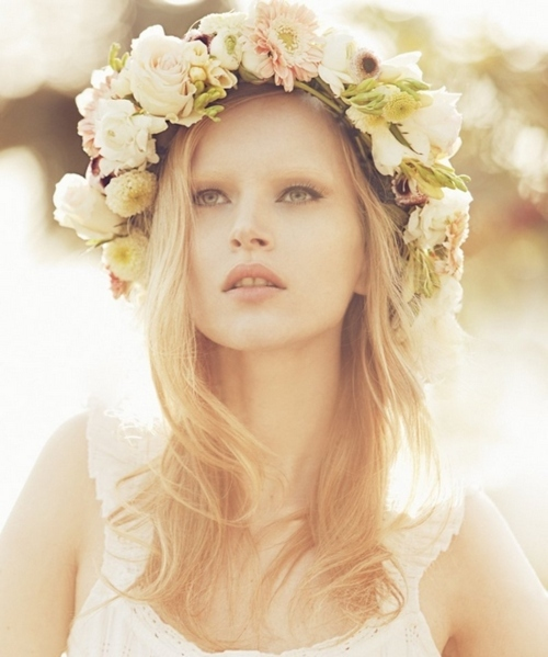 beautiful, blonde, bright, crown, fashion, flowers, girl, glower, hair, lady, lovely, model, nature, nice, photo, photography, pretty, summer, sunny, white, woman