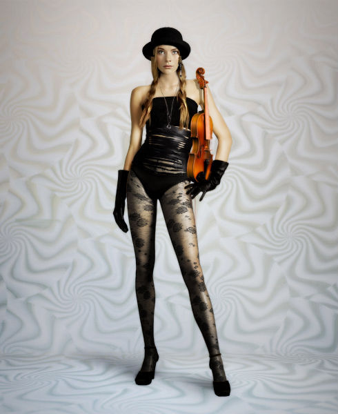 beautiful, cap, fashion, girl, music, violin, violino