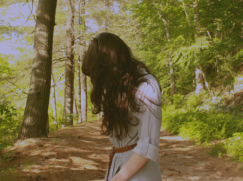 beauty, belt, brown, brunette, curls, fashion, forest, girl, hair, lady, model, photo, photography, sunlight, top, tree, trees, woman