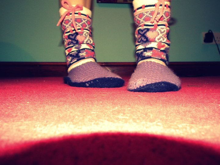 bed socks, colours, cute, floor, girl